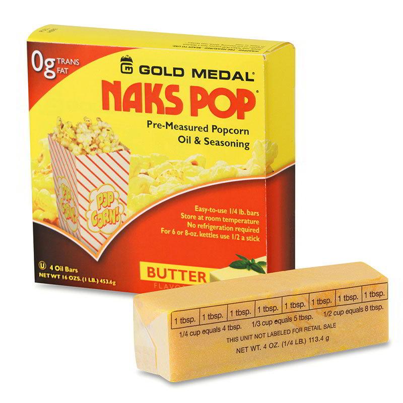 Gold Medal 2042 Naks Pop Oil Bars, (4) 1/4 lb Wrapped