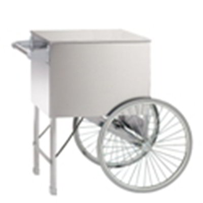 Gold Medal 2148CW 20-in Steerable Cart w/ 2-Spoke Wheels, White