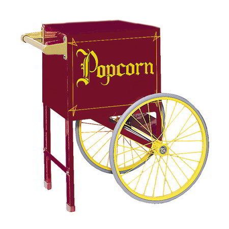 Gold Medal 2659CM Popcorn Cart w/ 2-Spoke Wheels, Maroon