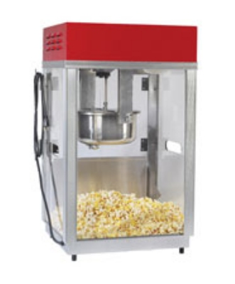 Gold Medal 2660SR 120208 Portable Popcorn Machine w/ 6-oz Kettle & Red Top, 120/