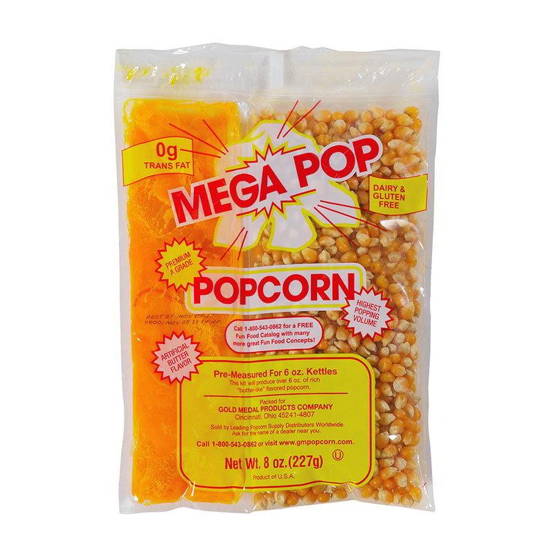 Gold Medal 2836 Mega Pop Corn Oil Salt Kits for 6-oz K