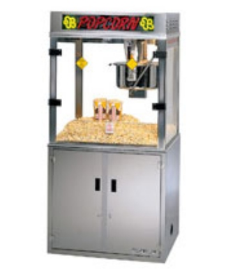 Gold Medal 2911EB 120208 Medallion Popcorn Machine w/ 52-oz Kettle &