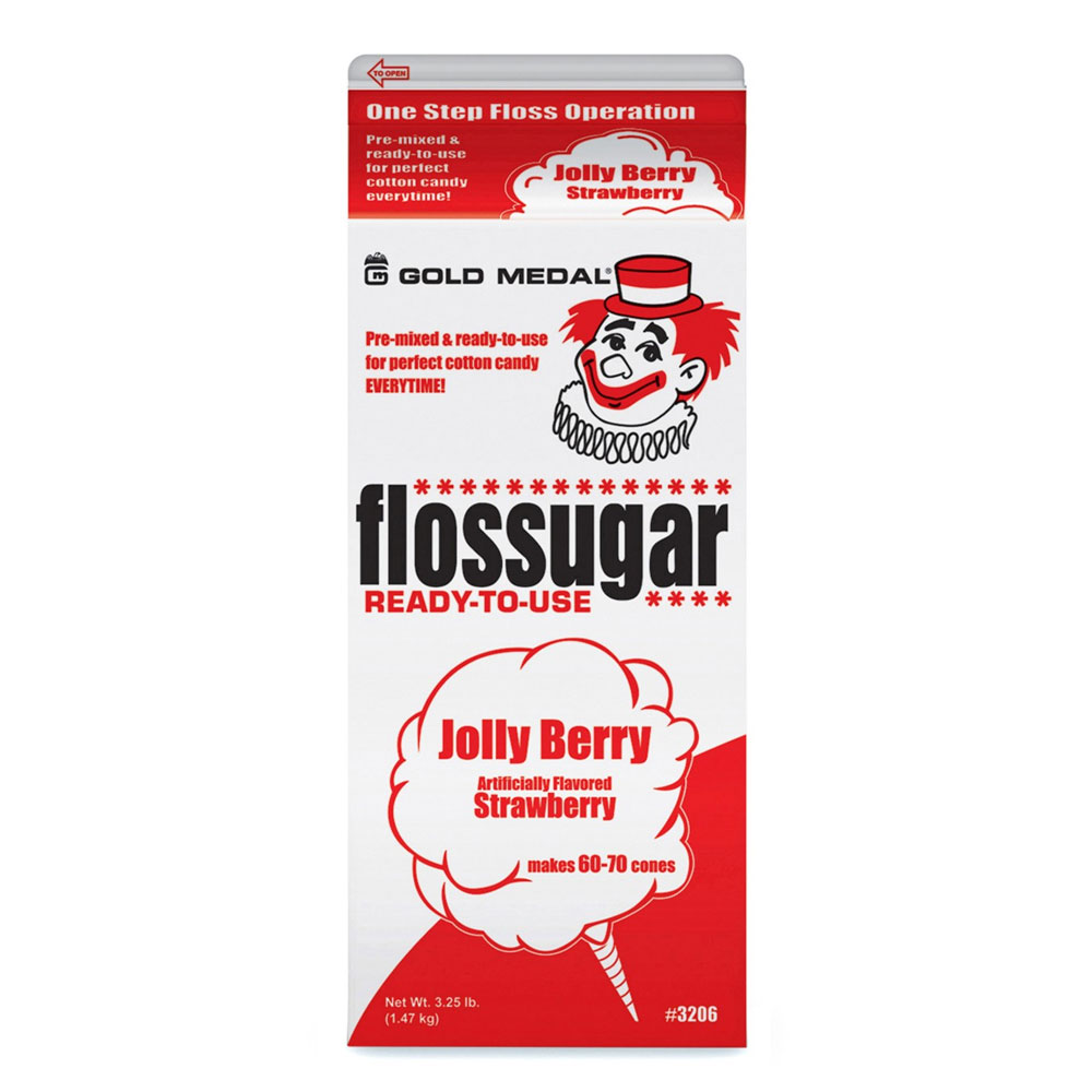 Gold Medal 3206 Jolly Berry Flossugar, (6) 0.5-gal Car
