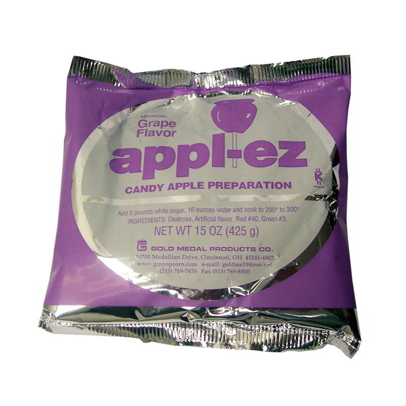 Gold Medal 4142 15-oz Appl-Ez Candy Apple Mix, Grape,
