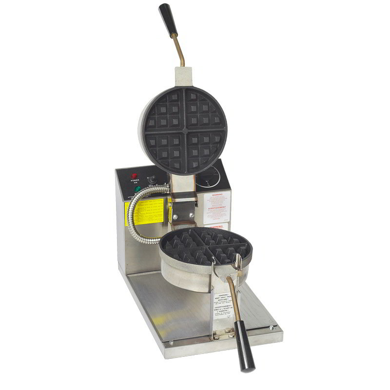 Gold Medal 5021T Belgian Waffle Baker w/ 7.25-in Non-Stick Grid, Stainless