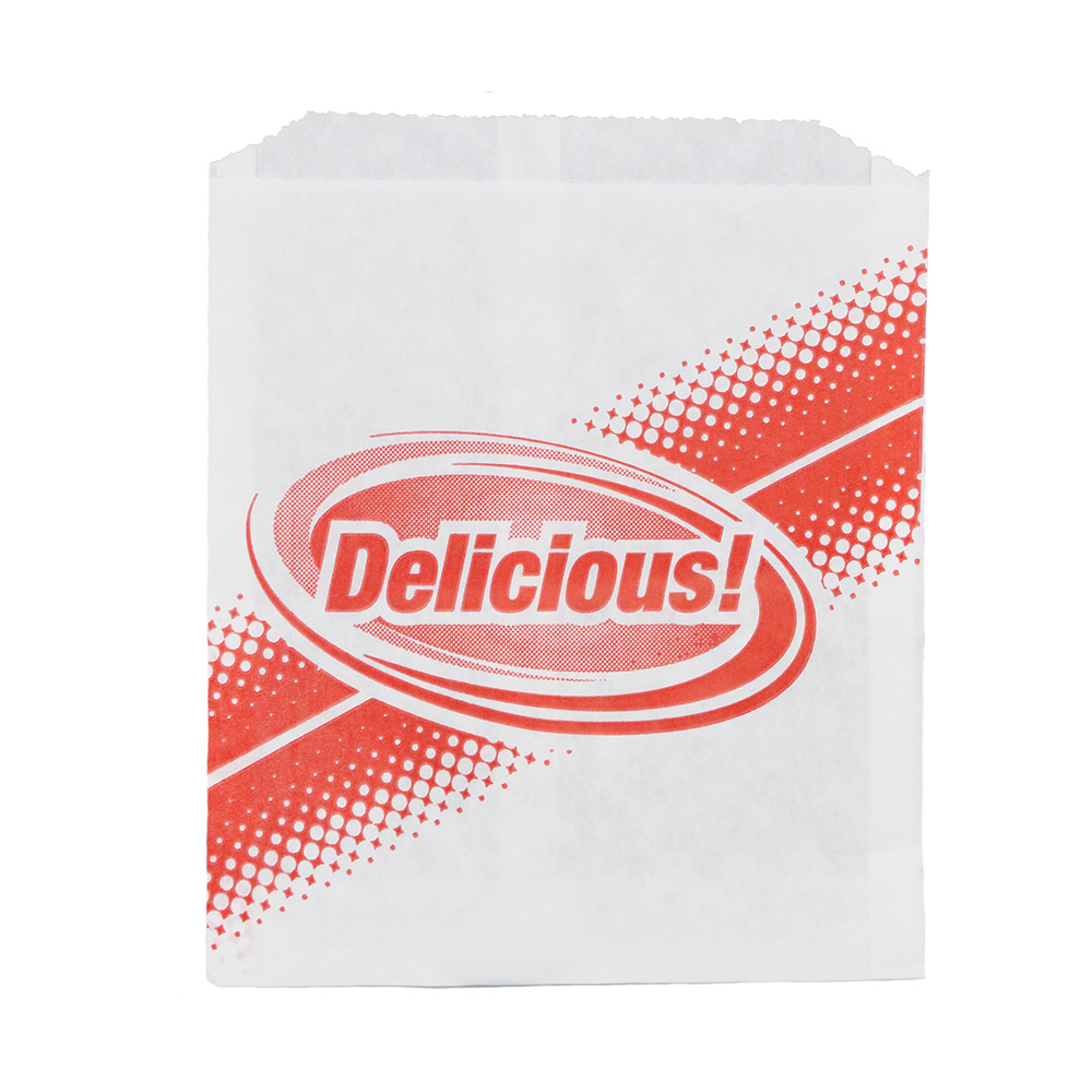 Gold Medal 5426 Delicious Disposable Hot Dog Sandwich Bags, Dry Wax, 1,000