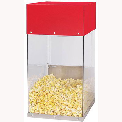 Gold Medal 5509 Popcorn Crisper w/ 2-Lamp Warmers & Lexan Cabi