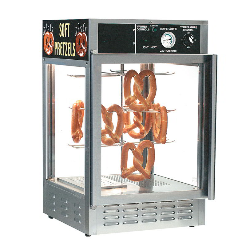 Gold Medal 5551PRD 18-in Countertop Merchandiser w/ 50-Jumbo Pretzel Capacity & 2-Pass Thru