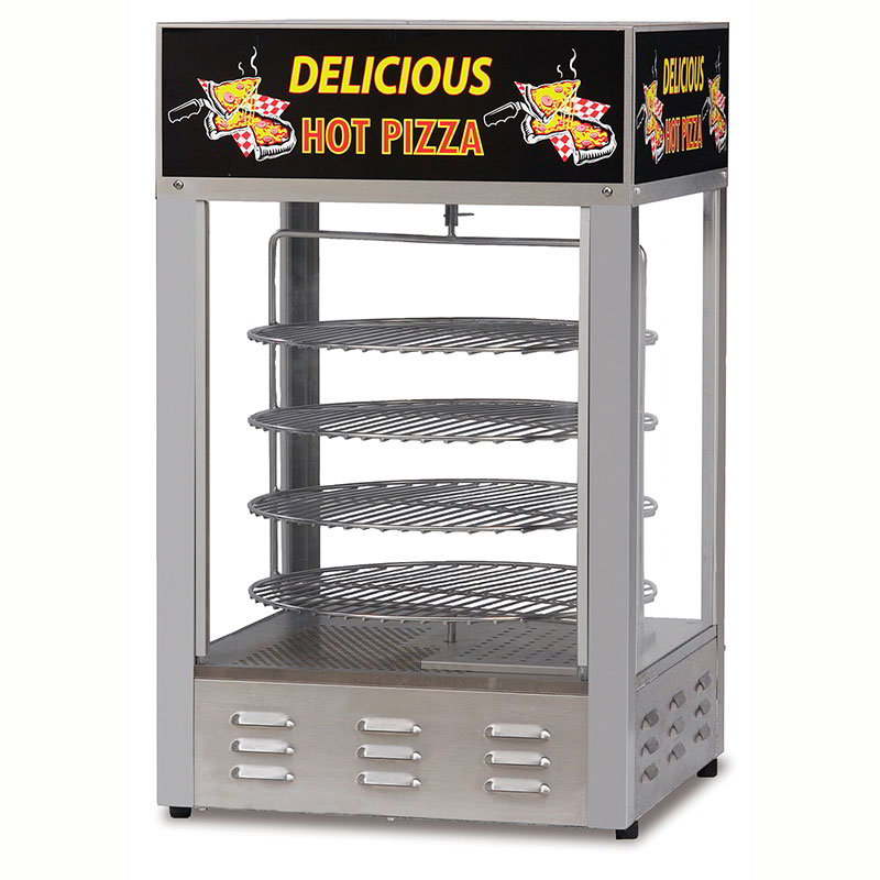Gold Medal 5551PZD 18-in Countertop Merchandiser w/ (4) 16-in Pizza Capacity &