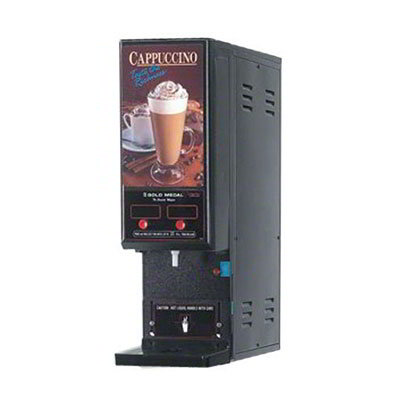 Gold Medal 6998 Compact Cappuccino Machine w/ 1-Dispense Valve & 2-Flavor Hoppers