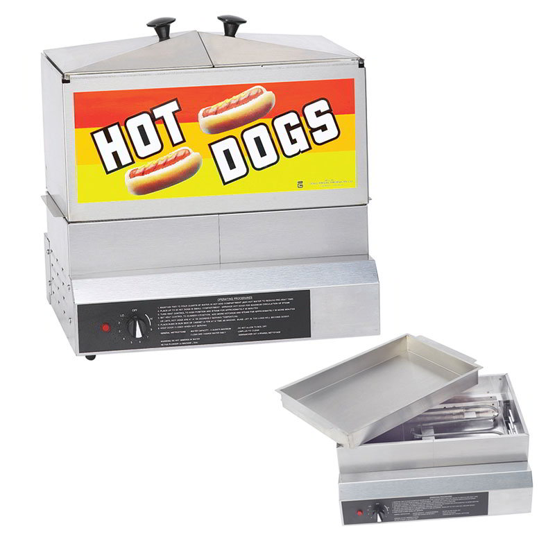 Gold Medal 8007DE Hot Dog Steamer, 6-Quarts Water C