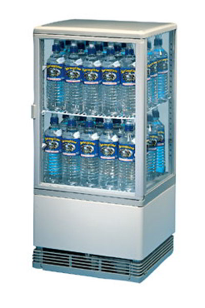 Gold Medal 1118 Bottled Water Cooler w/ 2-Adjustable Shelves, Glass on 4-Sides