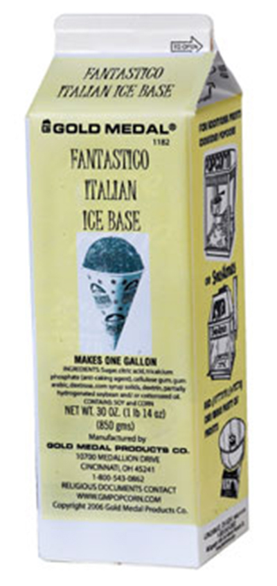 Gold Medal 1182 Fantastico Italian Ice Base Mix, 12/Case
