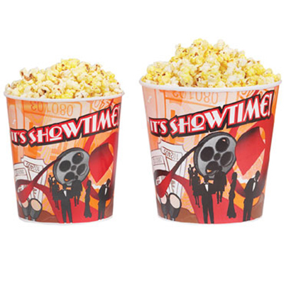 Gold Medal 2164T 64-oz Showtime Design Disposable Popcorn Cup,