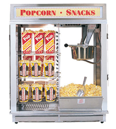 Gold Medal 1617EN 120208 Astro 16 Popcorn Machine w/ Reversible Illuminated Neon Sign, 120/208V