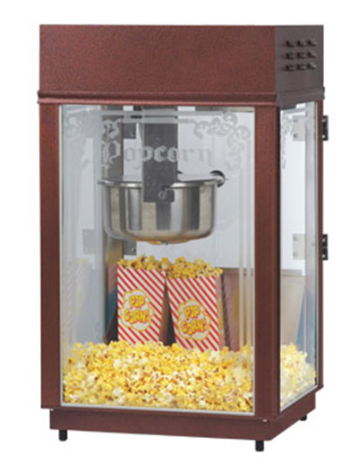 Gold Medal 1871 120208 Heavy Duty Popcorn Machine w/ 6-oz EZ K