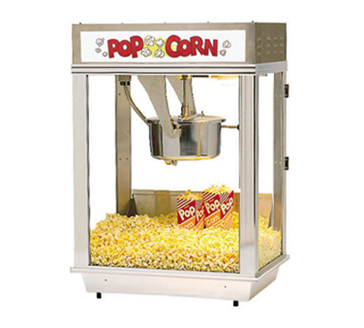 Gold Medal 2003ST 120208 Whiz Bang Popcorn Machine w/ 12-oz Kettle & Stain
