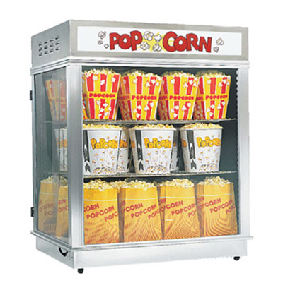 Gold Medal 2004N Astro Pop Staging Cabinet w/ Forced Hot Air Corn Freshener Sys