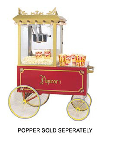 Gold Medal 2012 Popcorn Wagon w/ Stainless Countertop & 4-Spoke Wheels,