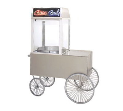 Gold Medal 2012ST Popcorn Wagon w/ 4-Spoke Wheels, Stainless, 48x34-in