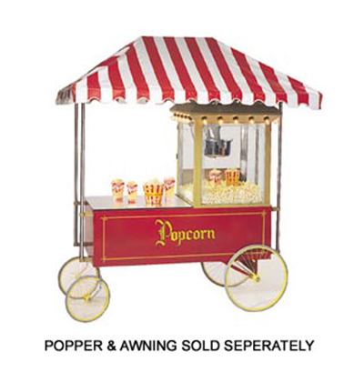 Gold Medal 2013 Popcorn Wagon w/ Stainless Countertop & 4-Spoke Wheels, Red,