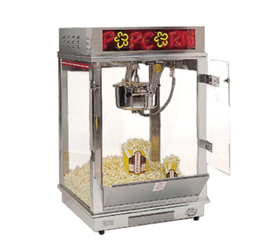 Gold Medal 2022EN 120240 Astro 16 Popcorn Machine w/ 16-oz Unimaxx Kettle & Neon Dome, 120/240