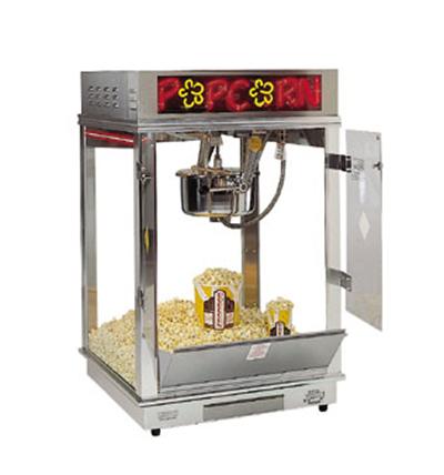 Gold Medal 2023EN 120208 Astro Pop 16 Popcorn Machine w/ 16-oz Kettle & 2-Color Neon Dome, 120/208V