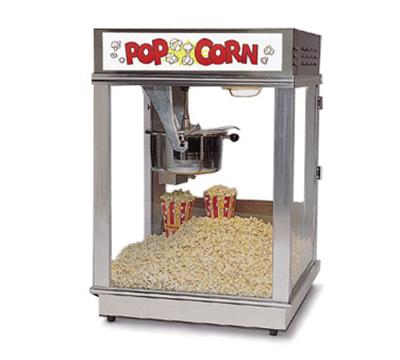 Gold Medal 2024 120208 Econo 16 Popcorn Machine w/ 16-oz Unimaxx Kettle & Red Dome, 12