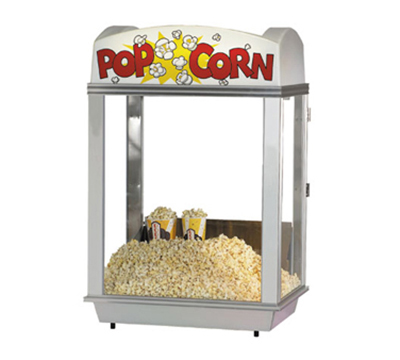 Gold Medal 2016 Pop-A-Lot Popcorn Warmer w/ Illuminated Yellow Dome & Forced Hot Air