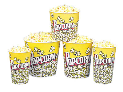 Gold Medal 1196PC 32-oz Popcorn Design Disposable Popcorn Cups, 500/Case