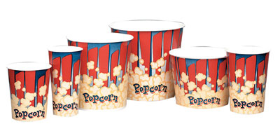 Gold Medal 2132RB 24-oz Red Disposable Popcorn Butt