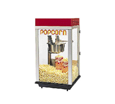 Gold Medal 2152ST 120208 Bronco Pop Heavy Duty Popcorn Machine w/ 8-oz Kettle & Stainl