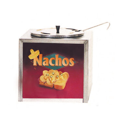 Gold Medal 2191 Cabinet Design Dipper Style Nacho Cheese Warmer w/ Lighted Sign