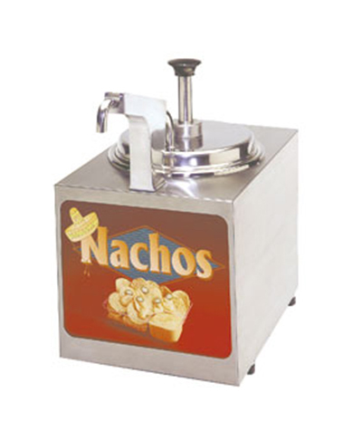 Gold Medal 2197NS Pump-Style Nacho Cheese Warmer w/ Heated Spout &