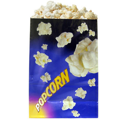 Gold Medal 2210 170-oz Purple Disposable Popcorn Bags, Laminated, 500/Case