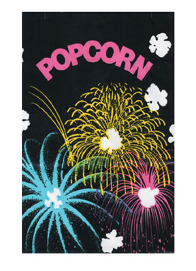 Gold Medal 2232B 130-oz Funburst Design Disposable Popcorn Bags, Laminated, 500/Ca