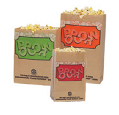 Gold Medal 2232E 130-oz EcoSelect Natural Fiber Paper Disposable Popcorn Bags, 500/Ca