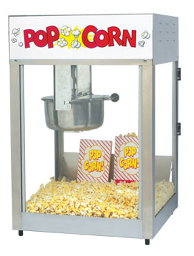 Gold Medal 2389 120240 Lil Max Popcorn Machine w/ 8-oz Kettle & Stainless Dome, 120/240