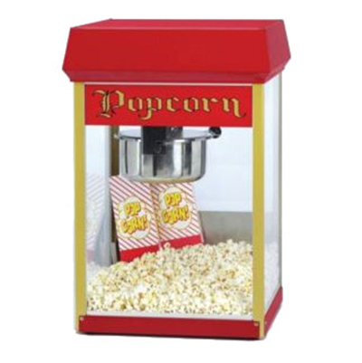 Gold Medal 2404 120208 FunPop Popcorn Machine w/ 4-oz EZ Kleen Kettle & Red Dome, 12