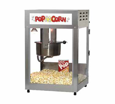 Gold Medal 2552 120240 Pop Maxx Popcorn Popper - 14-oz EZ Kleen Kettle & Stainless Dome, 120v