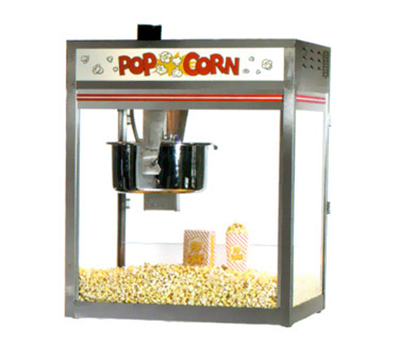 Gold Medal 2557 120240 32-oz Discovery Popcorn Popper w/ Non-Reversible Dome, Back Counter, 120/240V