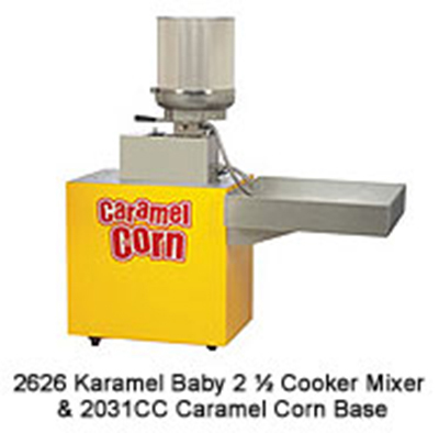 Gold Medal 2626 240 Karamel Baby Cooker Mixer w/ 2.5-gal Capacity & 20-min Cycle Time, 240/1V