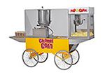 Gold Medal 2627 Two-In-One Merchandising Wagon w/ 2.5-gal Caramel Corn Cooker Mixer, Yellow
