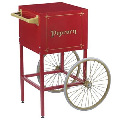Gold Medal 2649CR Fun Pop Cart for 4-oz Popper w/ Storage Compartment & 2-Spoke Wheels,