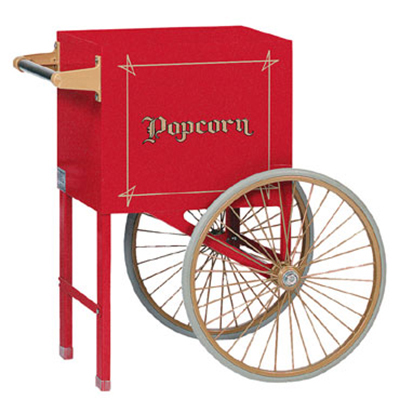 Gold Medal 2659CR Popcorn Cart w/ 2-Spoke Wheels