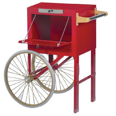 Gold Medal 2659CRD Popcorn Cart w/ 2-Spoke Wheels & Side Door, Red