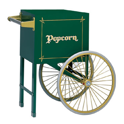 Gold Medal 2659HG Popcorn Cart w/ 2-Spoke Wheels, Hunter Green