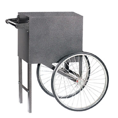 Gold Medal 2659SV Popcorn Cart w/ 2-Spoke Wheels, Silver Vane