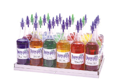Gold Medal 2724 Shave Ice Flavor Bottle Rack w/ 20-Bott