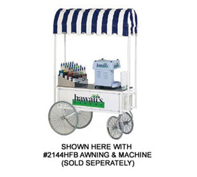 Gold Medal 2936HF Steerable Hawaiis Finest Shave Cart w/ Counter, Stainless, White